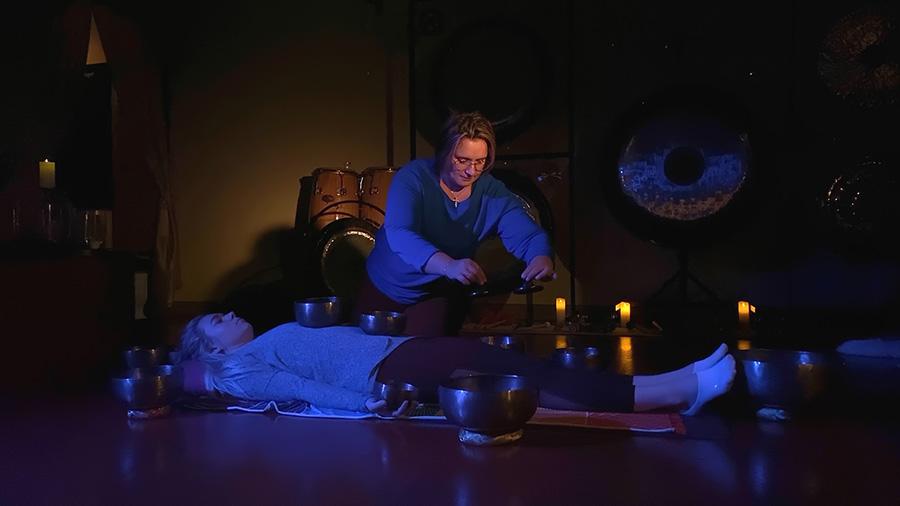 SallyTabib tibetan bowl body massage